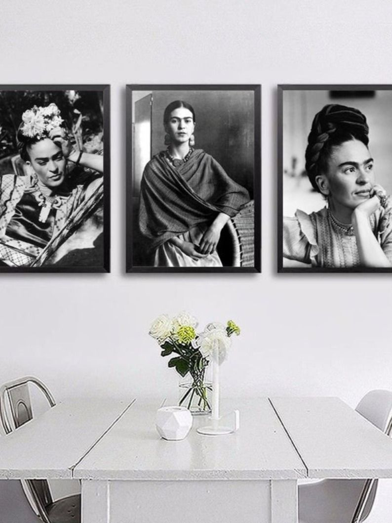 Frida Kahlo Vintage Photo Print Kahlo Set Of 3 Fashion Photography Print Fashion Poster Black And White Glamorous Prints Vintage Kahlo Art In 2020 Vintage Photo Prints Photography Print Vintage Photos
