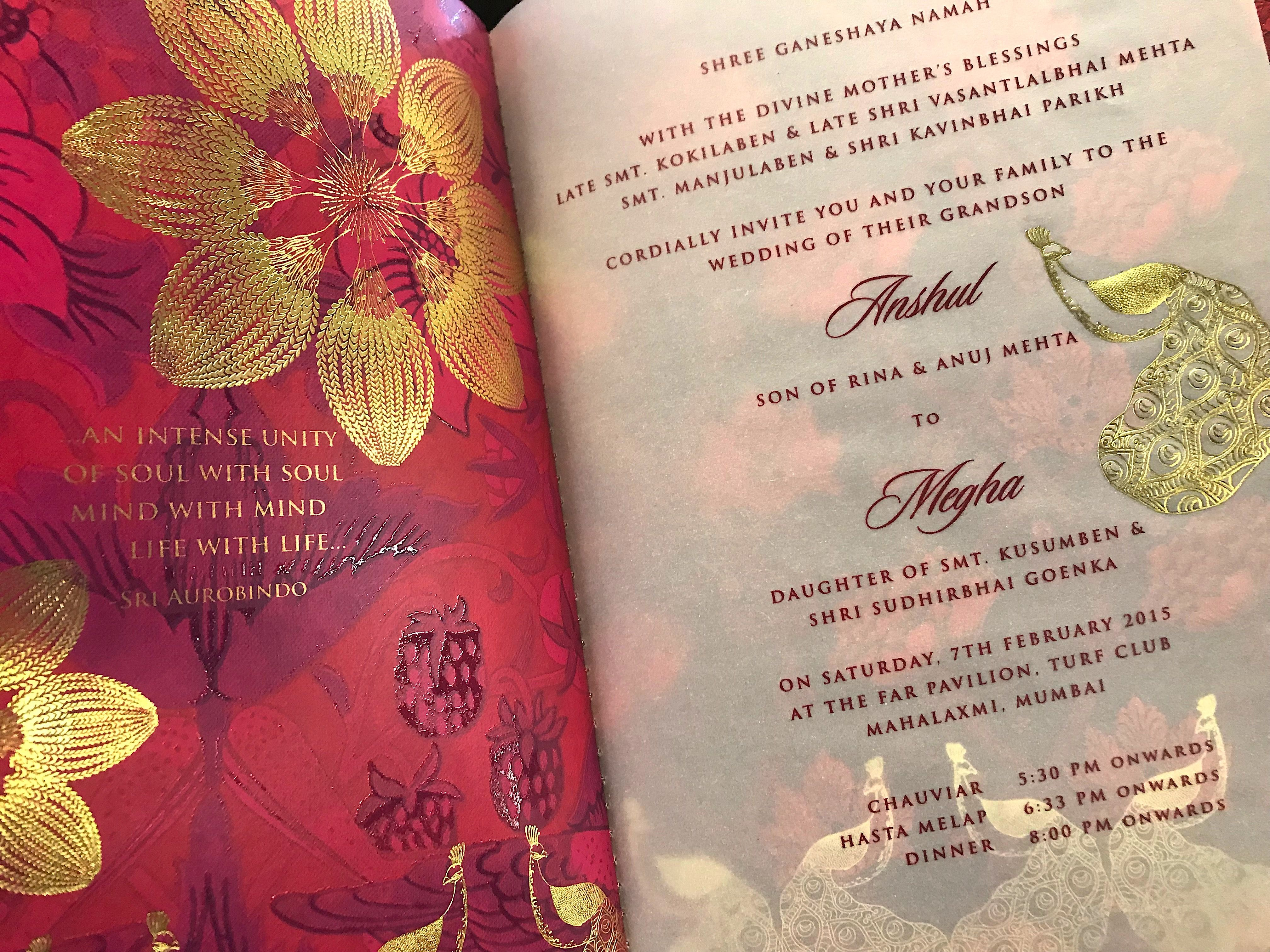 Wedding Invite Wordings Ideas From 17 Real Indian Wedding Cards