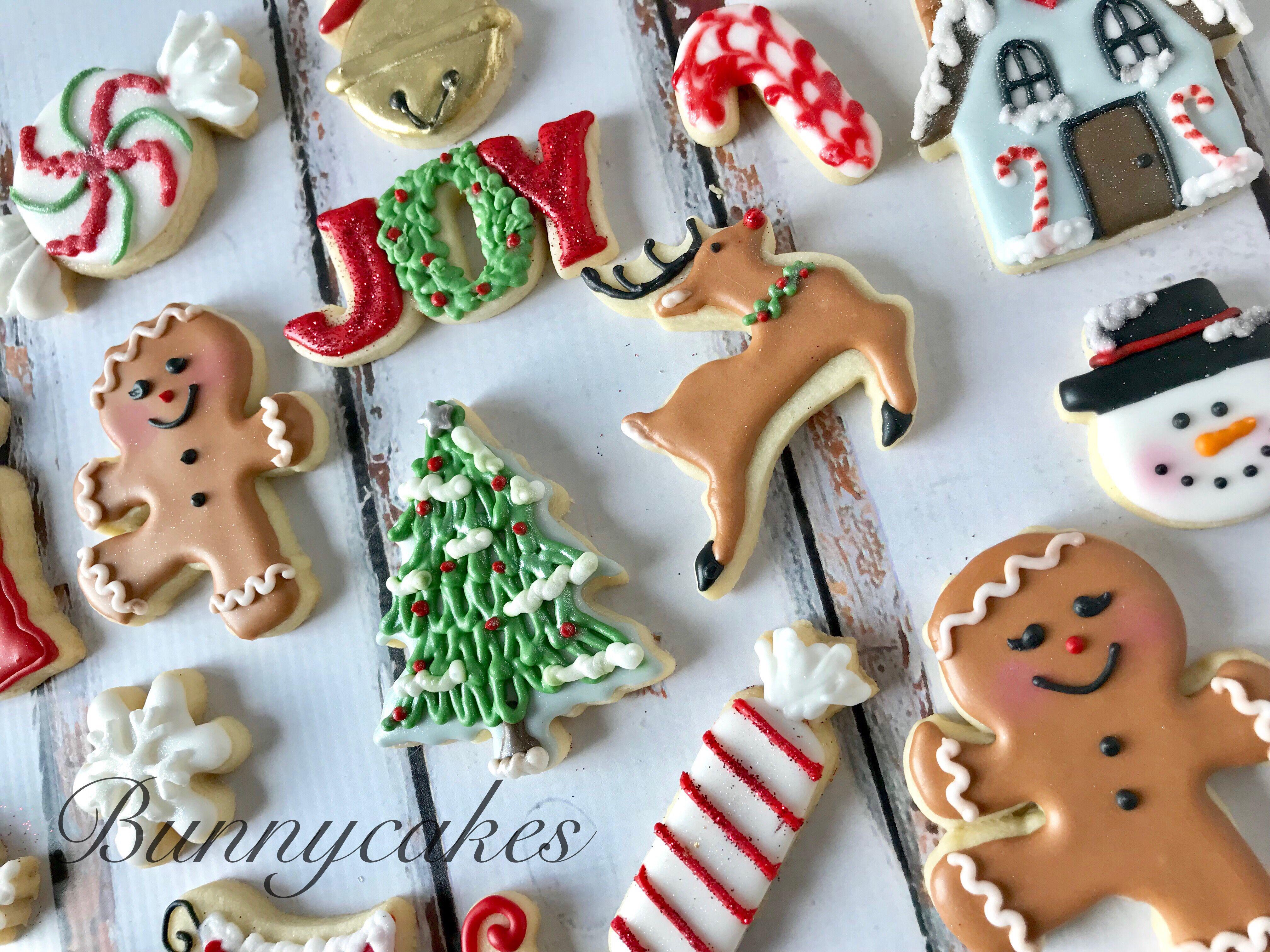 Holiday Mini Christmas Sugar Cookie Assortment Christmas Cookies
