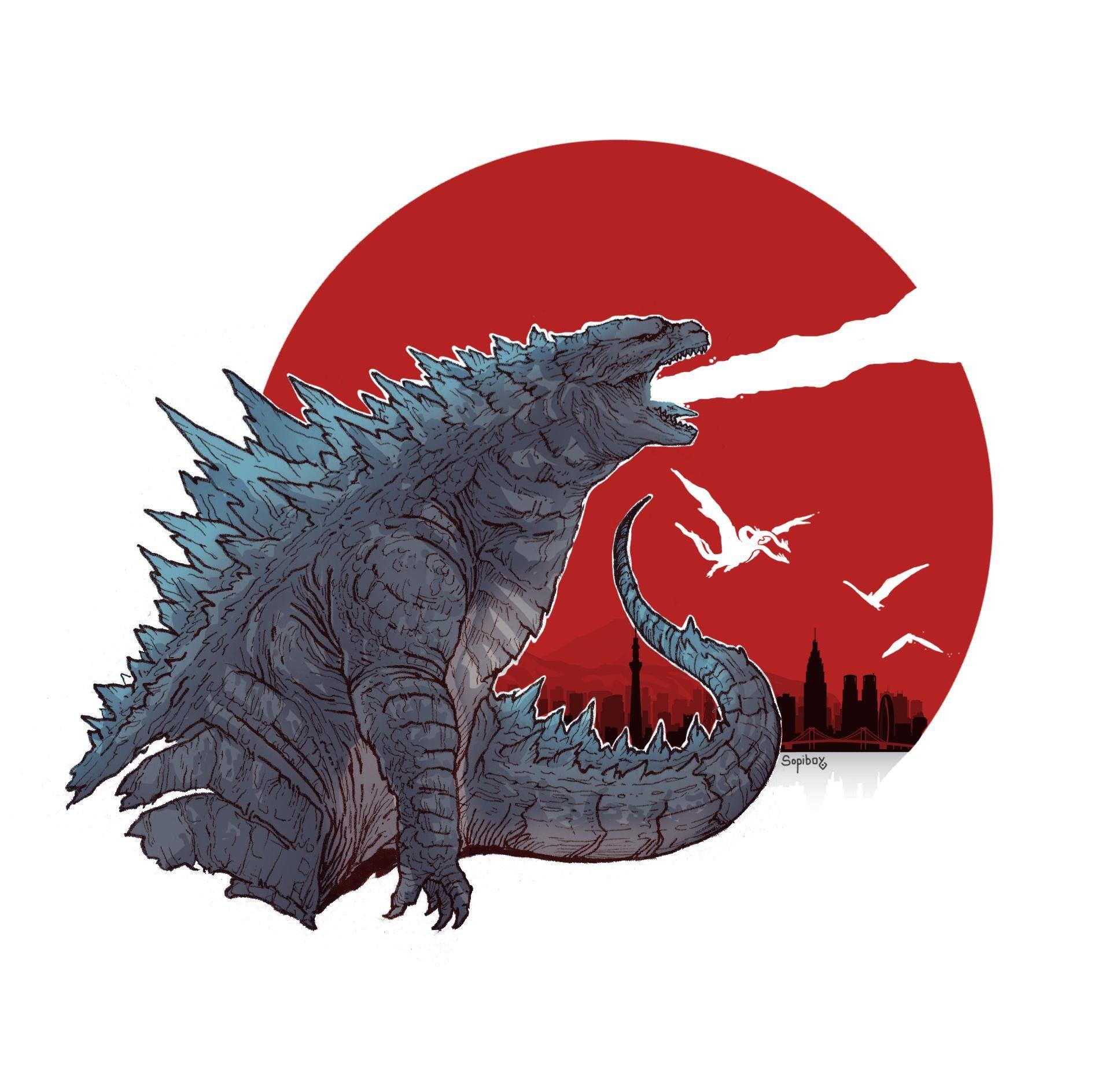 Godzilla 2 Imax Poster Textless: Godzilla By JeanBaptiste Roux Godzilla In 2019 Godzilla Movie