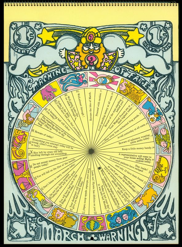 Psychedelic Hallmark Calendar 1970 3 71 September 1970
