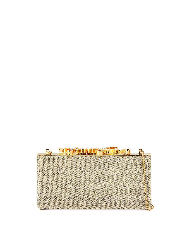 Celeste Small Frame Clutch Bag, Champagne