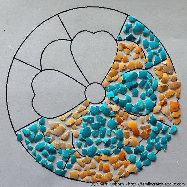 Learn How To Make Cute Eggshell Art With Kids Eggshell Mosaic