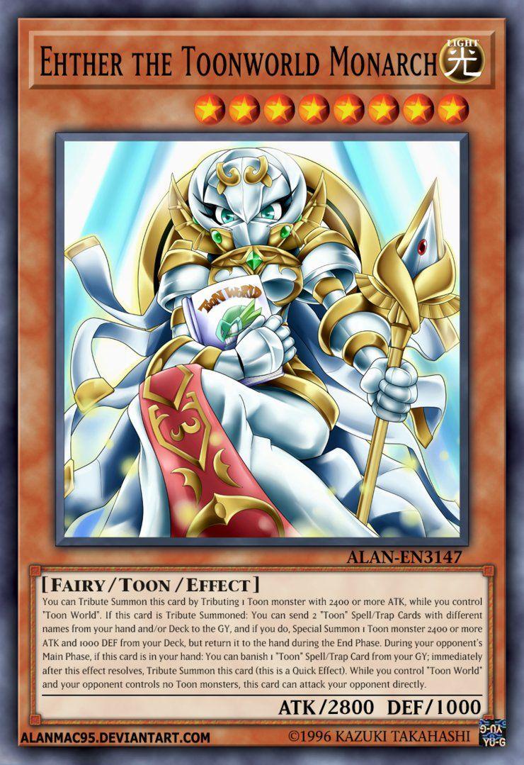 Ehther the toonworld monarch by alanmac95 custom yugioh