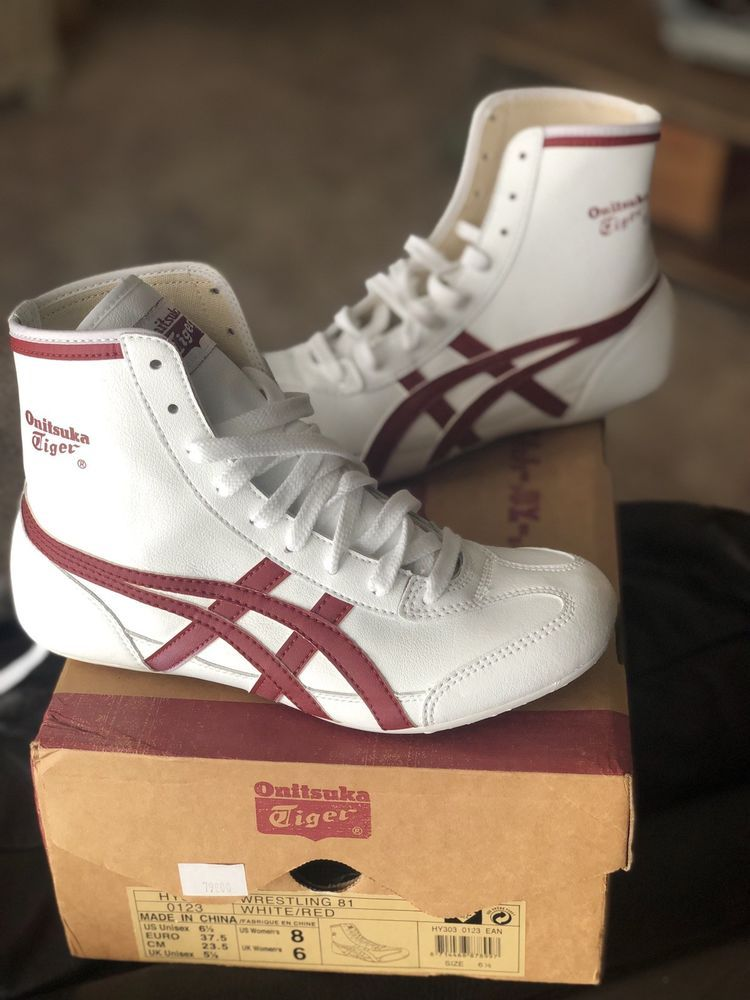 official photos a3986 9d91d NEW Rare Onitsuka Tiger Wrestling Shoes Red White | Mens ...