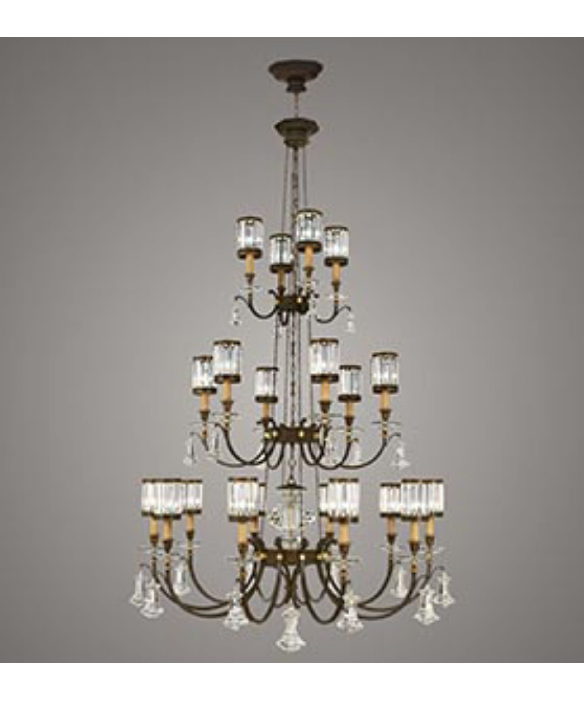 Eaton Place 52 Inch 20 Light Chandelier By Fine Art Lamps