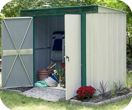 Arrow Eurolite 10x4 Steel Lean To Shed Kit W Skylight Panels Elphd104 Lean To Shed Kits Shed Shed Kits