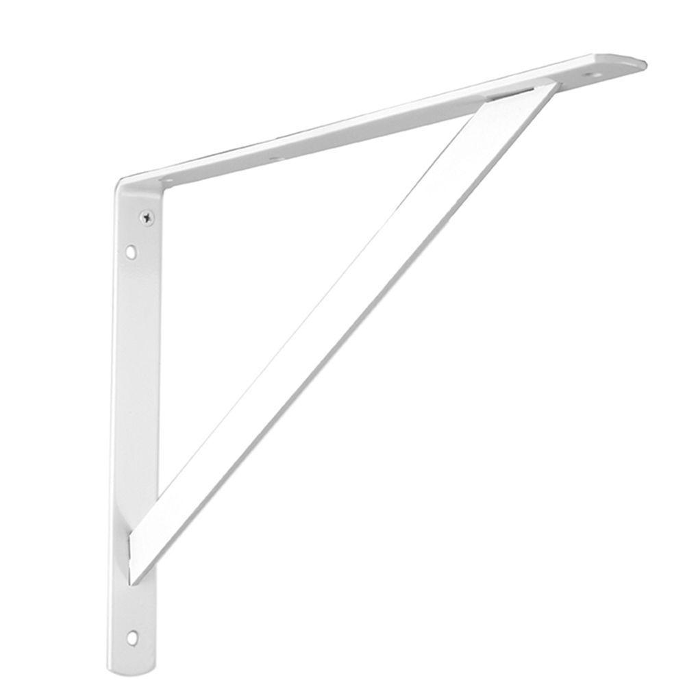 Everbilt 3 inch x4 inch white shelf bracket the home