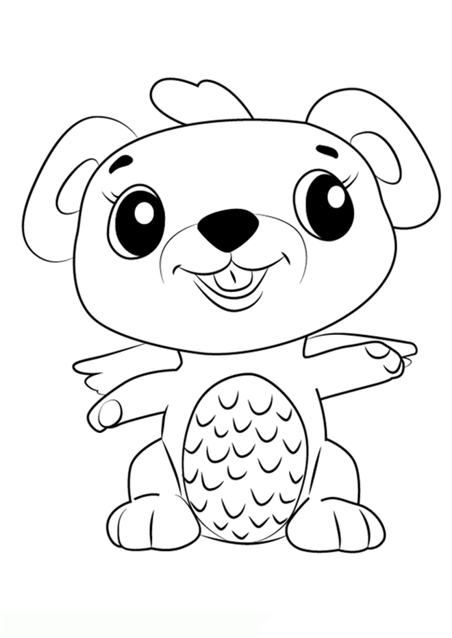 hatchimals coloring pages  bambini