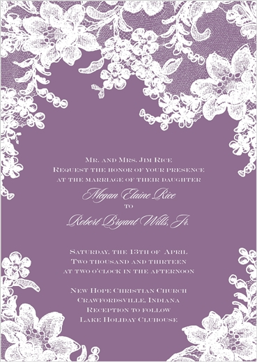Our wedding invitations. <3