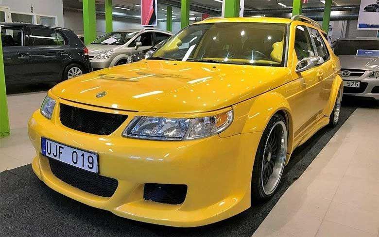 Saab 9 5 With The Custom Widebody Aerodynamic Kit Saab Inexpensive Painting Wide Body