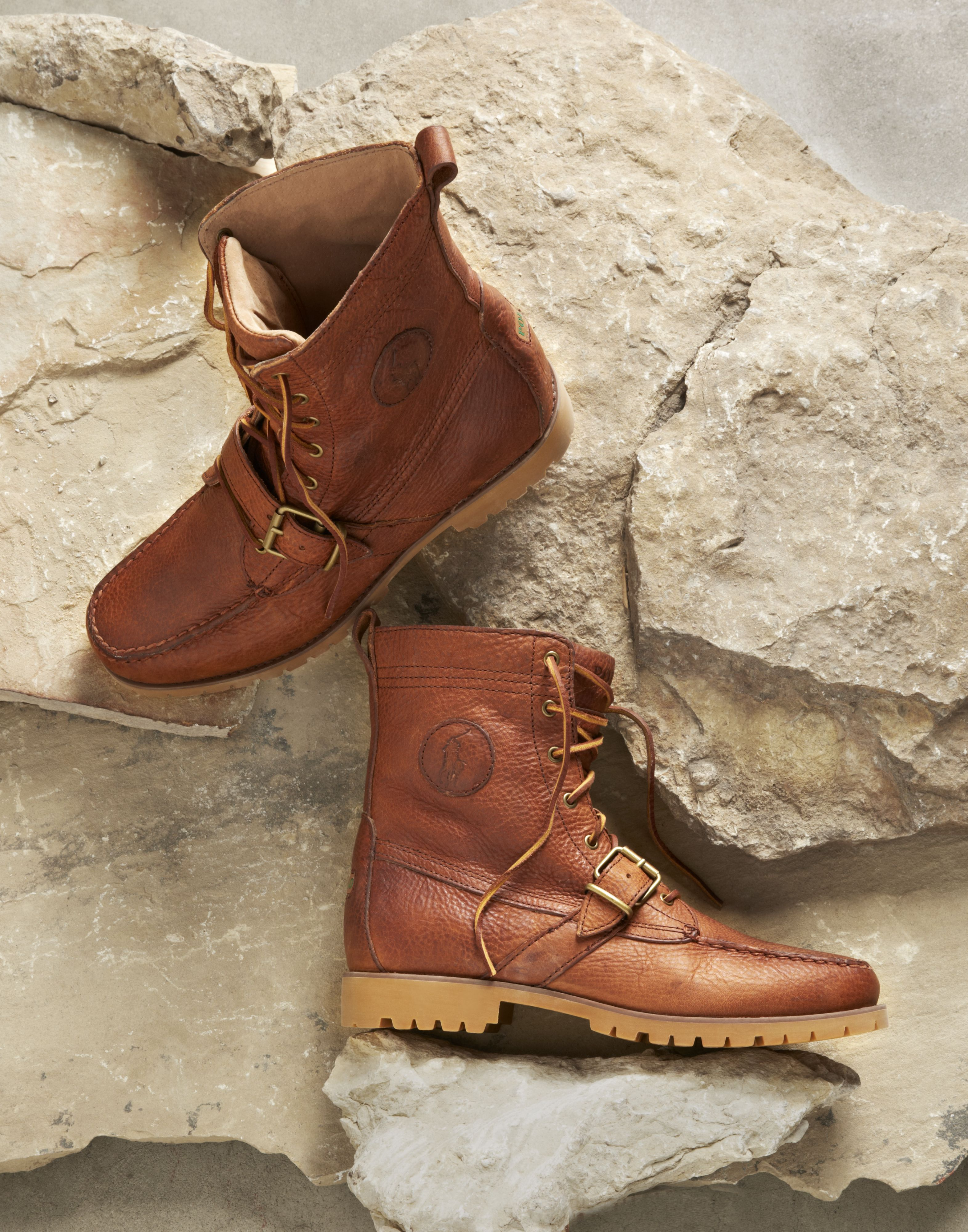 Ranger Leather Buckle Boots
