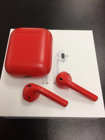 Red Matte AirPods | kims in 2019 | Earphone case, Headphones