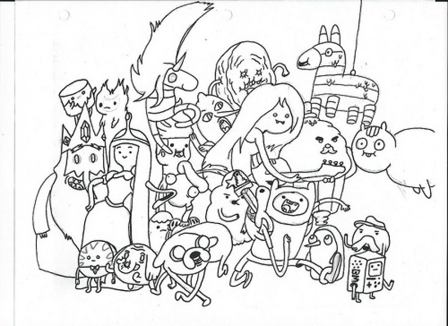 Unique Coloring Pages Fun 96 All characters from Adventure