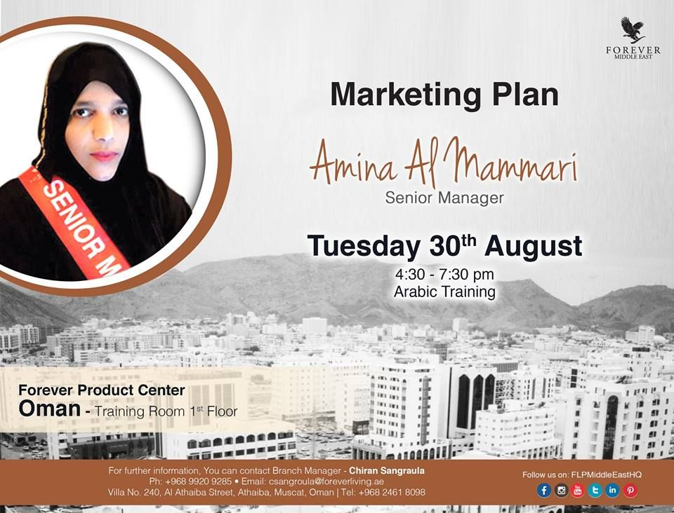 Marketing Plan by Amina Al Mammariu00 Senior Manager