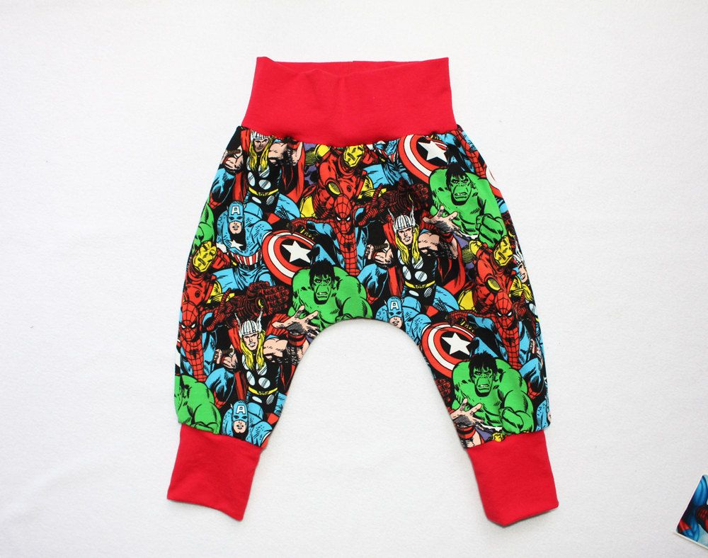 d57bcc4330b2 Marvel Baby Boy Harem Pants Toddler Boy Marvel Superhero Pants 0 month to 6  years Kids Captain America pants Baby Hulk Pants Baby Spiderman by HiCheeky  on ...
