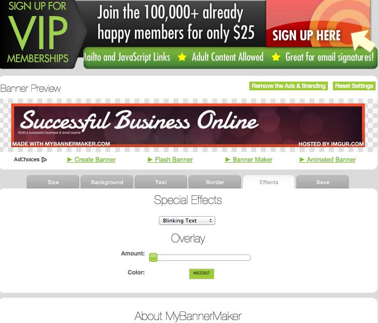 online maker Free adult banner