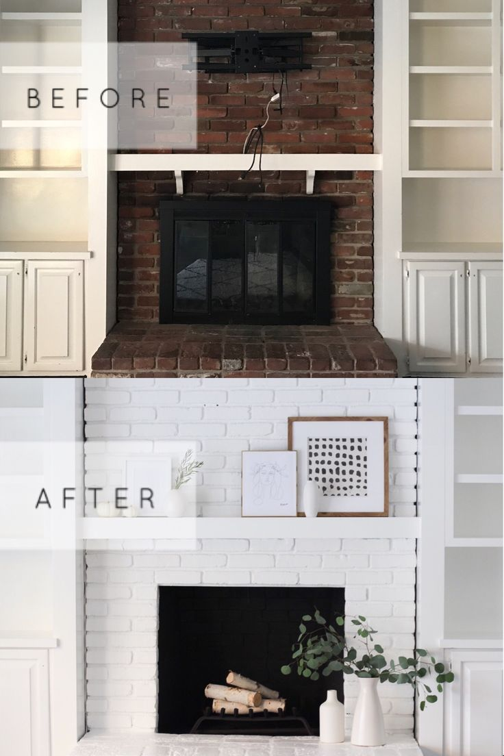 Brick fireplace makeover shocking before and after photos of a
