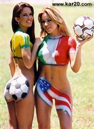 Hot Girls Playing Football