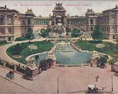 PALACE of Long Champs, MARSEILLES, FRANCE, Vintage Postcard, 1910s, Unused