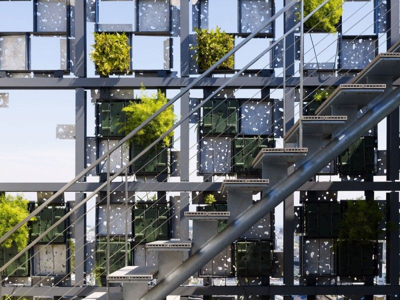 small office building designs inspiration small urban. Architecture, Amazing Building Small The Facade Of Is Covered With Planters Made Office Designs Inspiration Urban