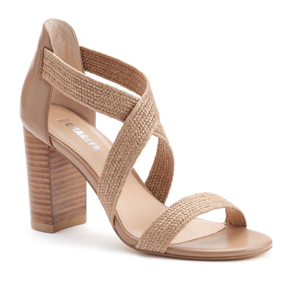 d4a4ff621a2 Style Charles by Charles David Echo Women s Block Heel Sandals ...