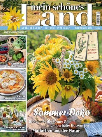 Unser Topseller im Zeitschriften Online Shop: Mein schönes Land Abo. Kein Wunder, bei diesen ansprechenden Titelbildern!