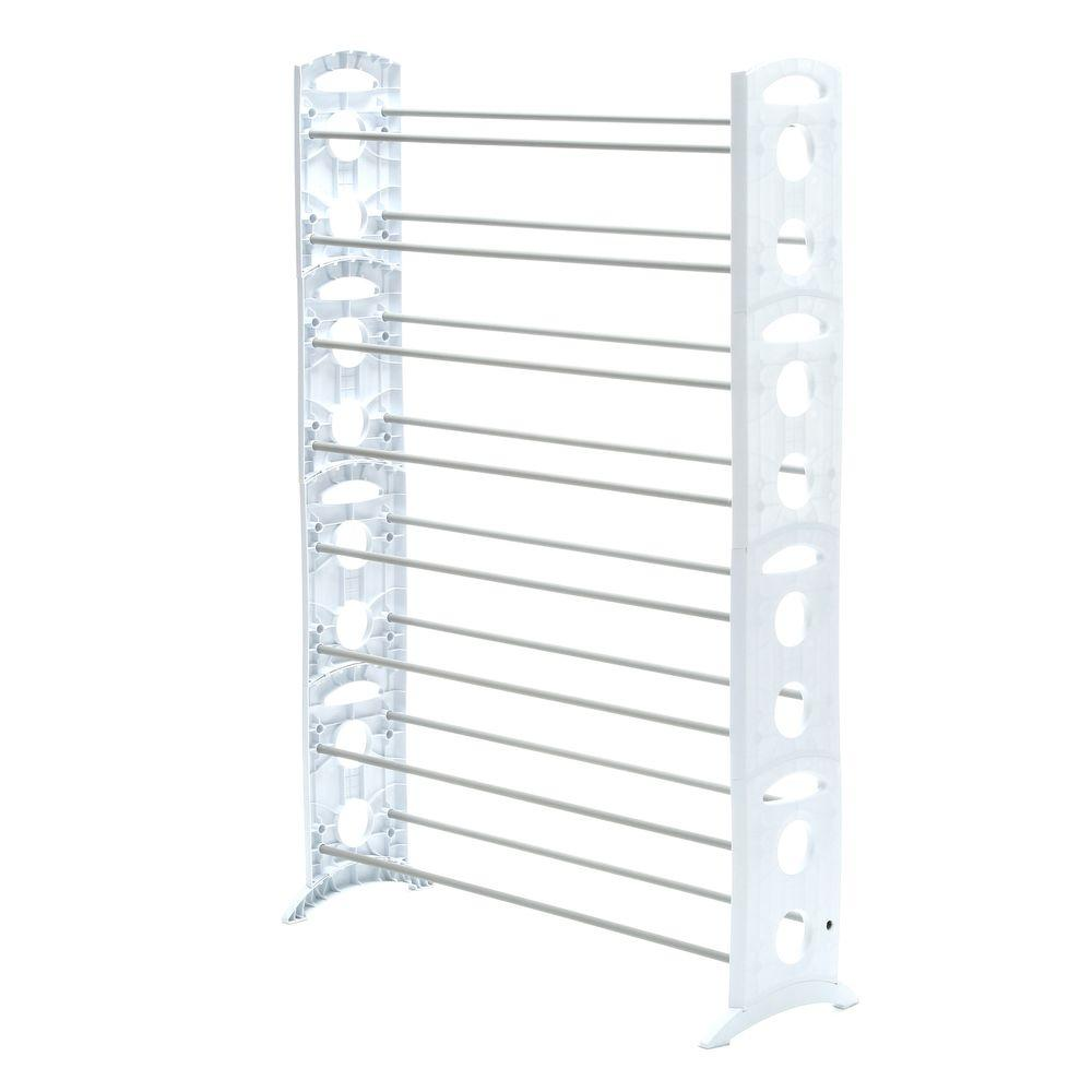 Whitmor Shoe Rack Collection 35 31 In X 62 24 In 50 Pair Resin