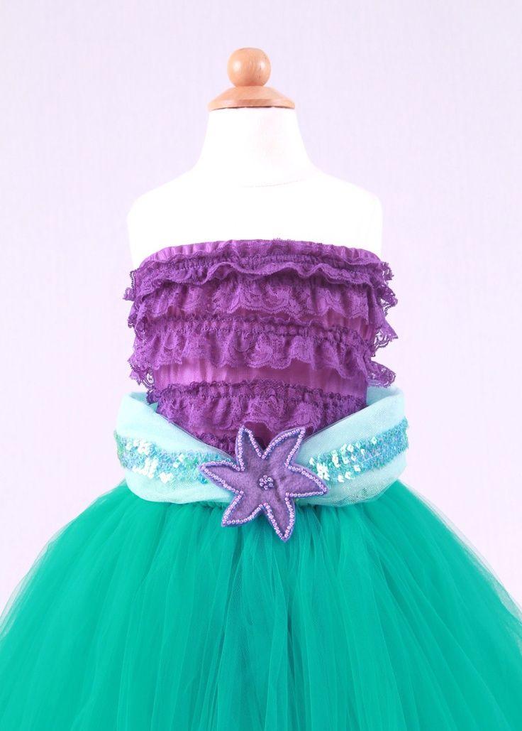 Tutu Skirt - Teal - Princess Ariel - Mermaid Costume - 12 Month to ...
