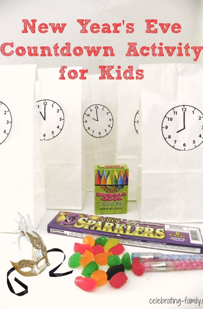 New Year's Eve Countdown Activity for Kids New year's