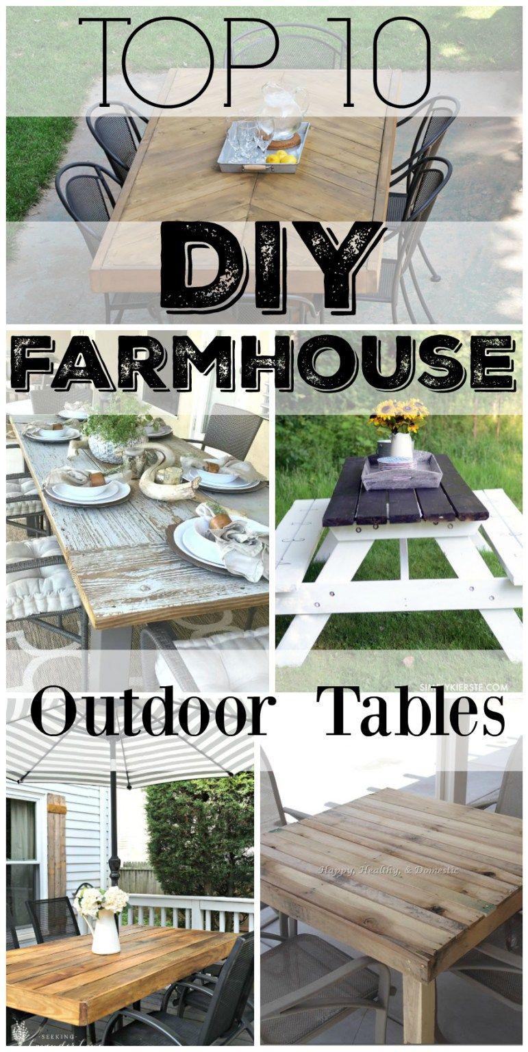 10 Diy Outdoor Farmhouse Tables Outdoor Farmhouse Table