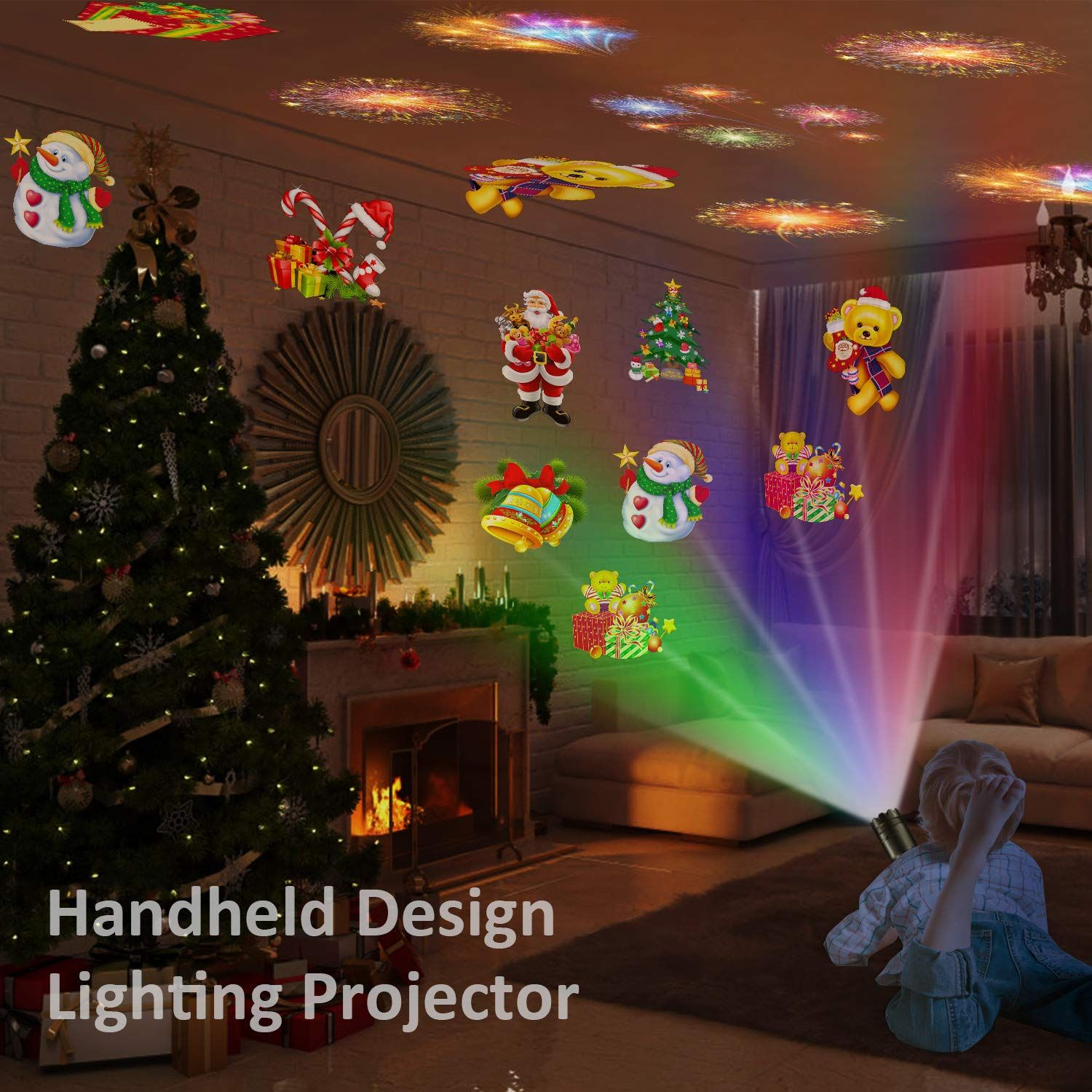 Portable Christmas Lights.Comlife Led Projector Light Portable Decorative Home Party