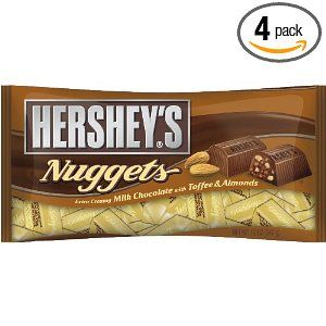 Hershey's Nuggets, Milk Chocolate with Toffee & Almonds.....heaven!