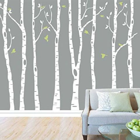 $45 Easily Apply This White Birch Tree Decal To Your Sweetieu0027s Nursery Wall.  We Love
