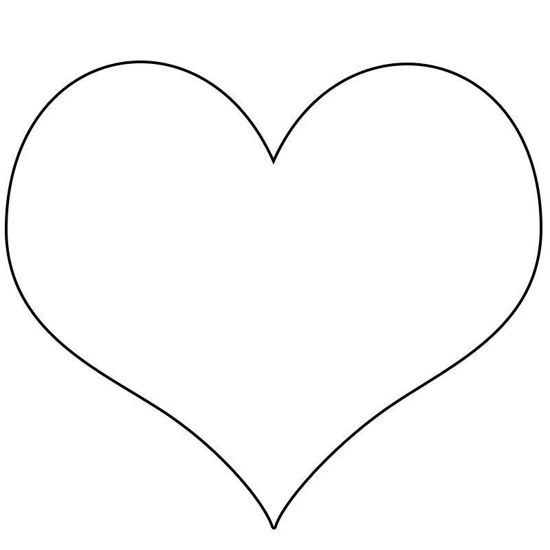 Sekiller Kalp Sablonlari Projedenizi Kalp Boyama Sayfalari Aplike Sablonlari