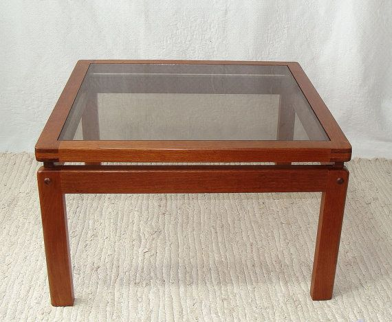 Sensational Mid Century Modern Teak Coffee Table Glass Top By Home Interior And Landscaping Oversignezvosmurscom