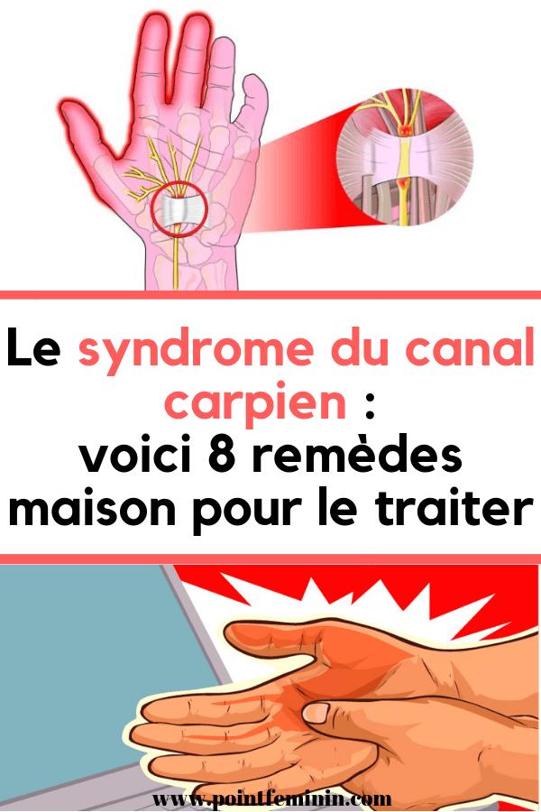 Le syndrome du canal carpien : voici 8 remèdes maison pour ...
