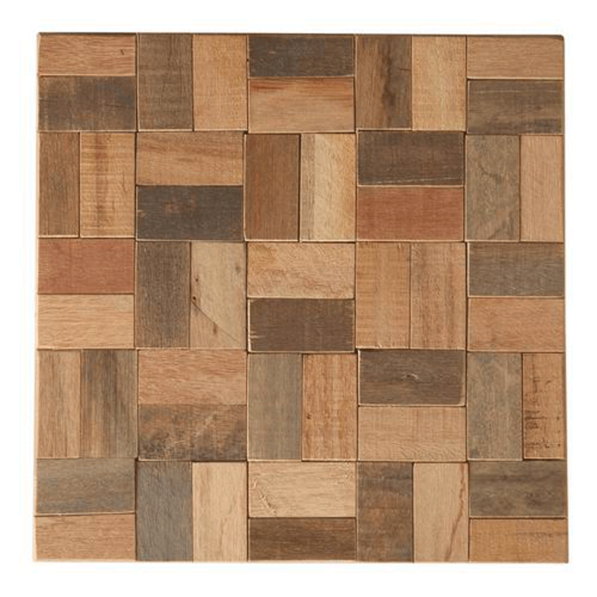 Wood Mosaic Square Wall Tiles Natural 12x12x2 5 Decorative Tiles Products Wood Mosaic Rug Sets Decorative Tile