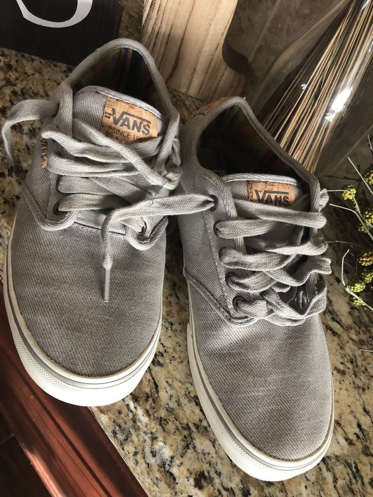 1b2789edf379c4 Vans Atwood Deluxe Gray Washed Canvas Ultra Cush Skate Shoes 9.0  fashion   clothing  shoes  accessories  mensshoes  casualshoes (ebay link)
