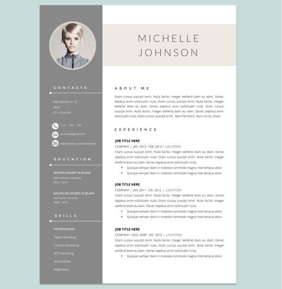 Pin Von Job Resume Auf Job Resume Samples: Resume Template With Cover Letter Template For WORD Von