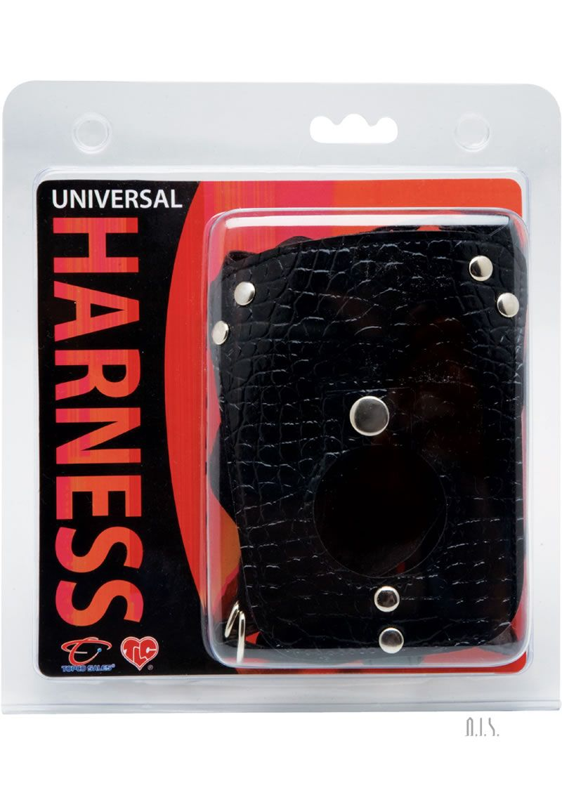 Universal Harness Leather - Extremely soft, velvet-suede washable backing with E-Z Snap Lock for adjustment.Firmly holds all pleasure devices.Fits waist sizes from 19 to 45.