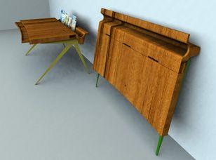 designers fold up desk