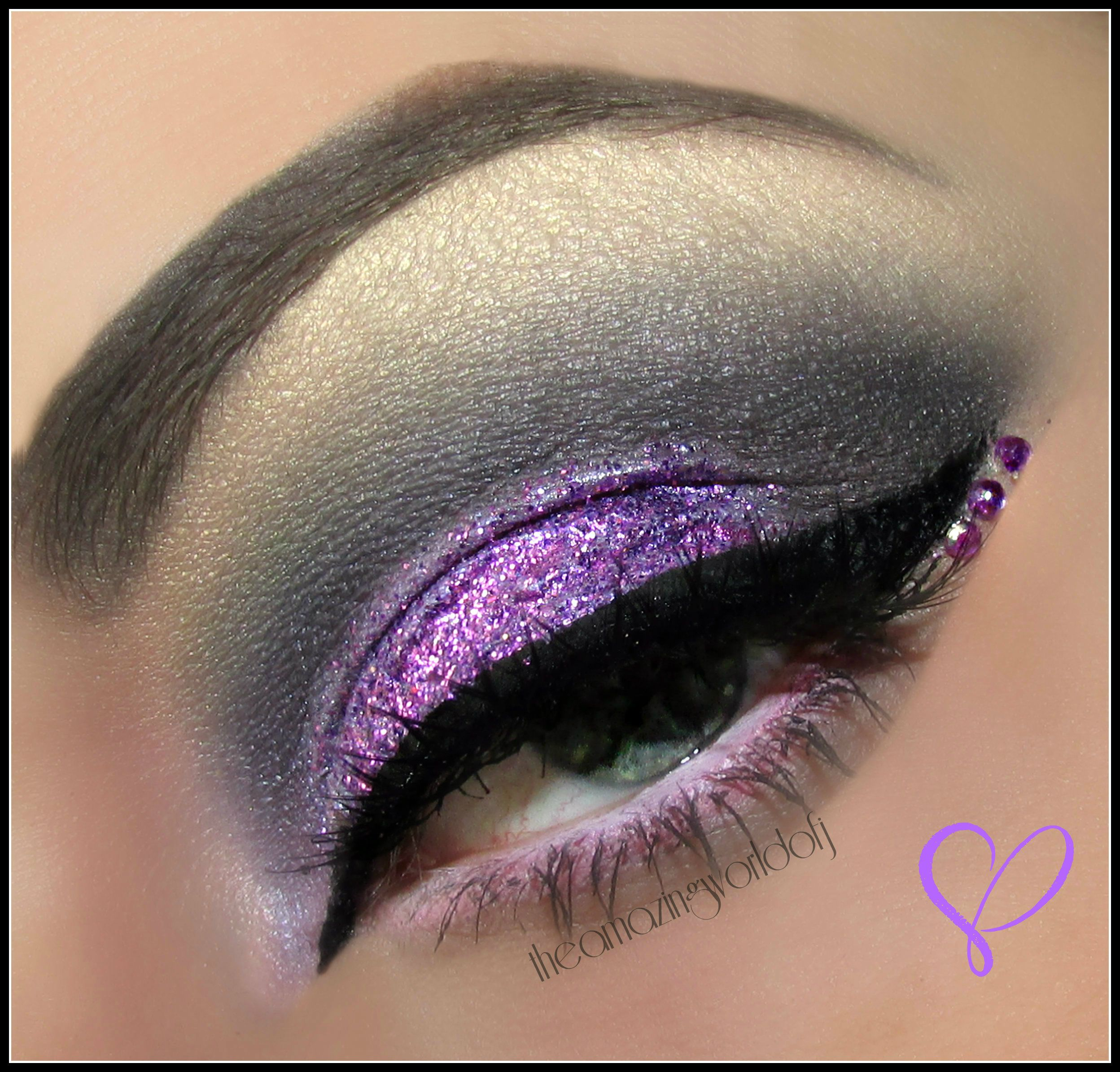 Purple Bling Smokey   Blue eye makeup, Makeup, Eye makeup