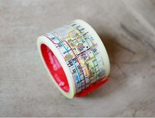 60 mm NY Manhattan Subway Pattern Tape van WonderlandRoom op Etsy