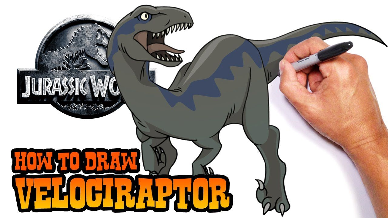 How to draw indominus rex scales jurassic world youtube - How To Draw Velociraptor Jurassic World Easy Art Lesson