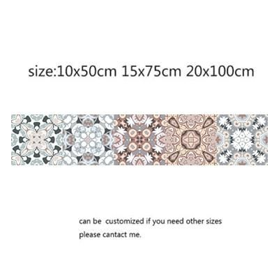 Photo of Arabic Style Mosaic Tile Stickers For Living Room Kitchen Retro 3D Waterproof Mural Decal Bathroom Decor DIY Adhesive Wallpaper – 1 / 10x50cm