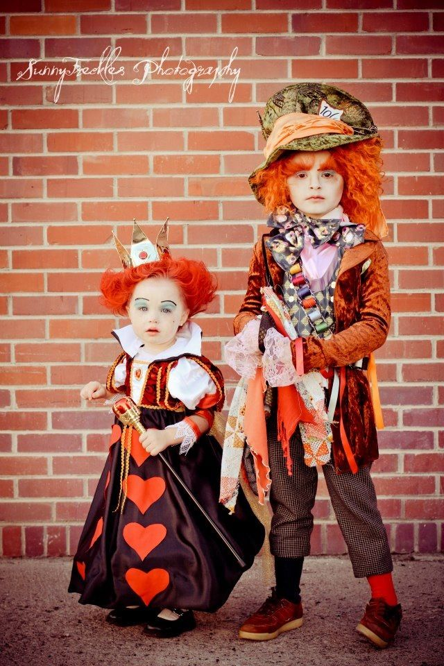 Our little Mad Hatter and Queen of Hearts! Happy Halloween