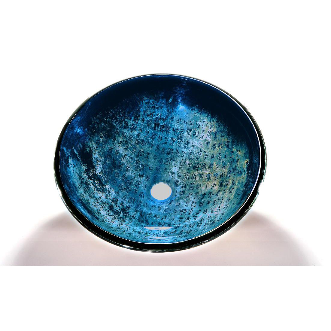 Blue Glass Bowl Vessel Bathroom Sink   For Master?