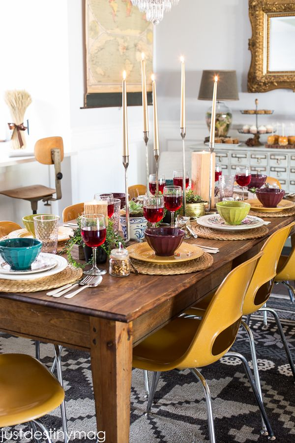Thanksgiving Entertaining thanksgiving table via just destiny mag featuring cost plus world