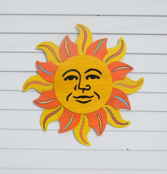 Celestial Sun Outdoor Wall Art, Fence Decor, Garage Art Hanging ...